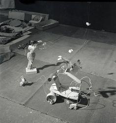 Pegasus, Negress, and Dog from Cirque Calder (1926–31), 1943 Photograph by Herbert Matter