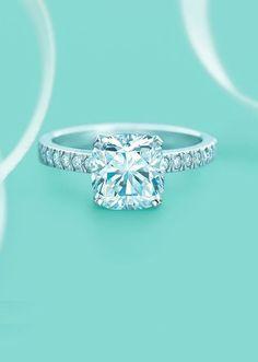 Tiffany's princess cut diamond wedding engagement rings #weddingring