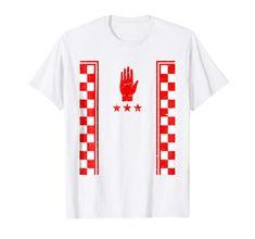 Tyrone GAA 2018 Retro Checkered Flag Football T-Shirt Flag Football, Checkered Flag, Branded T Shirts, Retro, Mens Tops, Retro Illustration