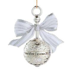 Amazon.com - Carlton Heirloom Ornament 2013 Baby's First Christmas - Metal Rattle - #CXOR001D