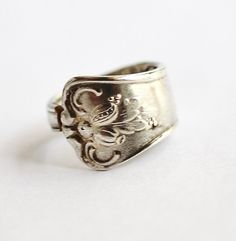 Spoon Ring sz 5.25 Spoon Necklace Floral Flower by Hendywood