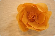 starched yellow linen  flower