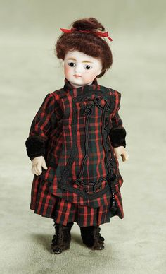 "Theriault's - 7"" German All-Bisque Doll by Simon and Halbig"