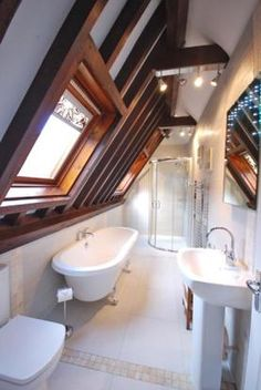 bathroom under the eaves