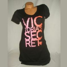 Victoria secret sleep shirt small Victoria secret sleep shirt Night gown Black with pink and Orange glitter letters Size small Brand new with tags Victoria's Secret Intimates & Sleepwear Pajamas
