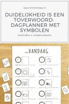Duidelijkheid is een toverwoord: download de printable dagplanner met symbolen Easy Peasy, Dutch, Words, Dutch Language, Horses