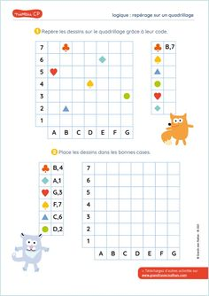 Math Activities For Kids, Worksheets For Kids, Math Worksheets, Math Games, Coding Class, Grande Section, Coding For Kids, Fun Math Activities, Geography