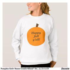 Pumpkin Girls' Hanes ComfortBlend® Sweatshirt