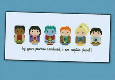 Earth Day Inspired Cross Stitch: Captain Planet