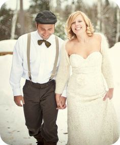 Unique Touches - Consider adding a fedora or jeff cap to make the groom's look more unique and complete.  Replacing the traditional tie with a bow tie can be different or even incorporating suspenders instead of a belt might be the way to stand out in style.