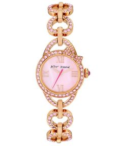 betsey johnson rose gold studded watch. Love this it's my life!