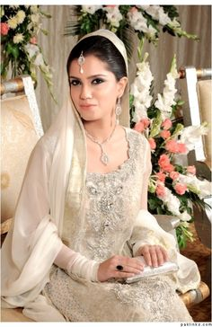 Like the simplicity of this Nikkah look. Except different work for the ivory.