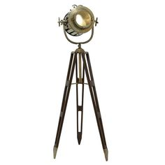 Hollywood Studio Director's Spotlight Tripod Floor Lamp
