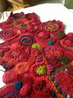 Free form crochet ideas...Blanket in progress