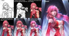 Ambient Occlusion Painting Process by Sangrde @Deviantart