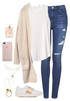"""""""OOTD 11.20"""" by magsmccray on Polyvore featuring Valentino, Topshop, Gap, Magda Butrym, Chloé and Chanel"""