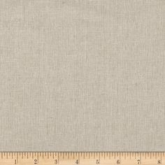 From Robert Kaufman Fabrics, this lightweight (5.6 oz. per square yard) linen blend fabric has a luxurious hand with a full-bodied drape. The yarn dyed fibers create a tiny and subtle checkered pattern which disappears into a solid from far away. With a rustic look, and smooth feel, this linen is perfect for spring and summer garments like dresses, lightweight pants, and skirts. Colors include cross threads of cream and khaki for a beige overall appearance.