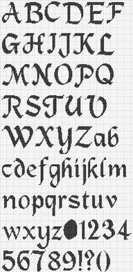 Cross stitch alphabet chart 4