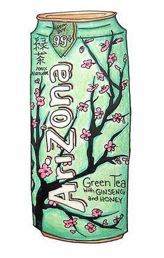 arizona , art , illustration , ice tea , tea , drawn , drawnings , sketch , sketches , colorful , bright , turqoise , aqua , flowers , pink , cute