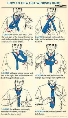 How to Tie a Tie The Complete Guide The Art of Manliness is part of Windsor tie - How to tie four classic necktie knots that every man should know, including the fourinhand, halfwindsor, windsor, and shelby knots Cool Tie Knots, Cool Ties, Windsor Tie Knot, Half Windsor, Nudo Windsor, Tie Knot Styles, Tie A Necktie, Necktie Knots, Bordado Popular