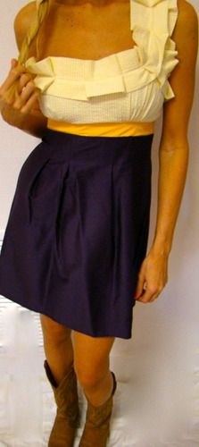 My favorite LSU dress.  Need to get measurements.  Sale $71.50 MISS ADORABLE