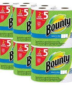 Bounty Select-a-Size Paper Towels, White, Huge Roll, 12 Count - Online Shopping Discounts