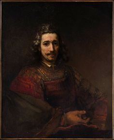 Rembrandt 'Portrait of a Man with a Magnifying Glass' c.1660-96, Oil on canvas