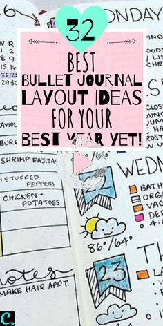 Get all the bullet journal inspiration you need to have your best year yet! From incredible habit trackers to weekly spreads, dont miss these genius ideas! Digital Bullet Journal, Bullet Journal Notebook, Bullet Journal Inspo, Bullet Journal Spread, Bullet Journal Layout, Bullet Journal Ideas Pages, Journal Pages, Bullet Journals, Books To Read Bullet Journal