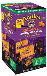 Just saw these at Target last night! Annie's Homegrown is good about labeling for cross-contamination, and their Honey and Chocolate flavor bunny grahams crackers are listed on the handy peanut-safe snack list available on their website. (Note: The Halloween package listed shared equipment with milk and soy.)