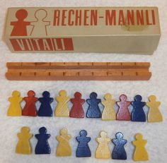 RARE Antonio Vitali Rack of Little Men Rechen Mannli Swiss Mid Century Toys | eBay