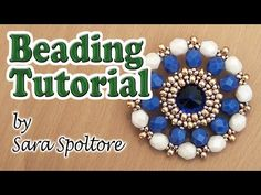 Tutorial Cellini spiral bezel - How to bezel a Rivoli using Cellini spiral - Beading - DIY earrings - YouTube
