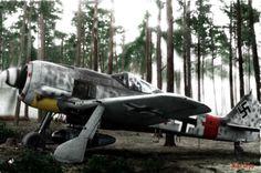 5.JG300 Staffelkapitan Klaus Bretschneider Focke Wulf Fw 190A8 Red 1 WNr 682204 Lobnitz 1944