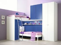 great idea for bunk beds for my girls once they have to share a room