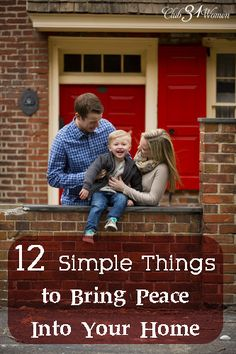 """What are those small things that can make a significant difference in your home? Here are 12 simple things that can help bring peace into your home and family. LOVE this story and list.I want to have a """"peaceful"""" home. Marriage And Family, Family Life, Home And Family, Marriage Advice, Family Rules, Biblical Marriage, Happy Marriage, Happy Family, Peaceful Home"""