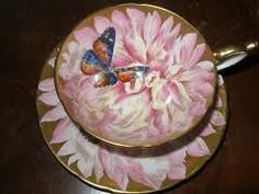 Pink with Butterfly Tea Cup