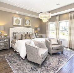 Good morning!!! Bedroom via @taylormorrisoncharlotte #home #interiordesign #inerior #bedroomdecor #bedroom #neutrals #fixtures #patterns #classy #realestate #opulence #glam
