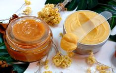 Baumes Apaisants pour Douleurs Articulaires et Musculaires Immortelle et Grande Consoude Immortelle, Peanut Butter, Food, Salve Recipes, Homemade, Meals, Yemek, Eten