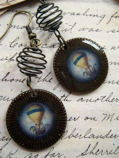 Steampunk airship earrings. A little odd but still a neat idea.