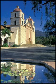 Santa Barbara Mission. Centered in one of the most beautiful areas of California.