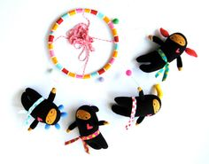 Hey, I found this really awesome Etsy listing at http://www.etsy.com/listing/110150338/ninja-girls-with-neon-hair-baby-mobile