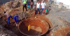 Un sartén gigante descubierto en Central Java, Indonesia