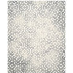 Safavieh Handmade Dip Dye Watercolor Vintage Grey/ Ivory Wool Rug (8' x 10')