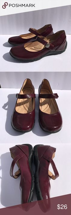 """Naturalizer Mary Janes """"Vambra"""" Naturalizer  Mary Janes  Dark Red Patent  Women's Shoes Vambra Size 7 M  EUC Naturalizer Shoes Flats & Loafers"""