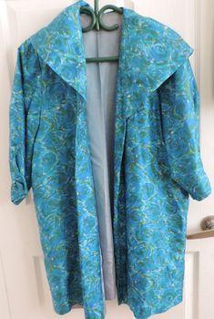 vintage floral silk jacket medium on ebay