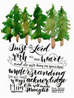 Proverbs 3:5 and 6 set under a line of by ScribblesnScriptings