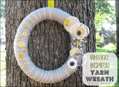Tattered and Inked: Vintage Inspired Spring Wreath ~ Using a pool noodle as a wreath form (: