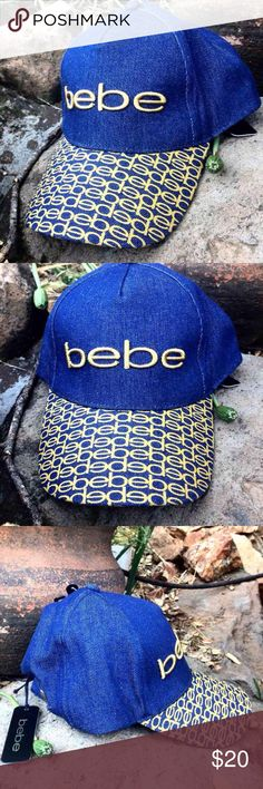 New! Bebe Denim Baseball Hat w/ Monogrammed Bill Brand new! Never been worn/used! Tags still attached!  Brand: Bebe  Style: Baseball hat  +Monogram bill in gold lettering +Denim  +Curved bill +Adjustable so you can fit it perfectly to you!  + Wear your hair up or down! +Spot for pony tail to go through   BUNDLE with my other listings to receive a BUNDLED DISCOUNT!  [Make sure to check out my page for other styles, colors, brands, and other cool clothing, accessories, Shapewear,,jewelry and…
