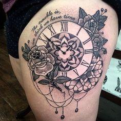 #mandala #clock #tattoo