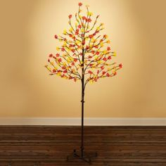 6-1/2' LED Sugar Maple Tree for Fall Decor