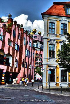 Magdeburg, Die Grüne Zitadelle. Friedensreich Hundertwasser, A5, Places Ive Been, Germany, Building, Creative, Artist, Travel, Architects